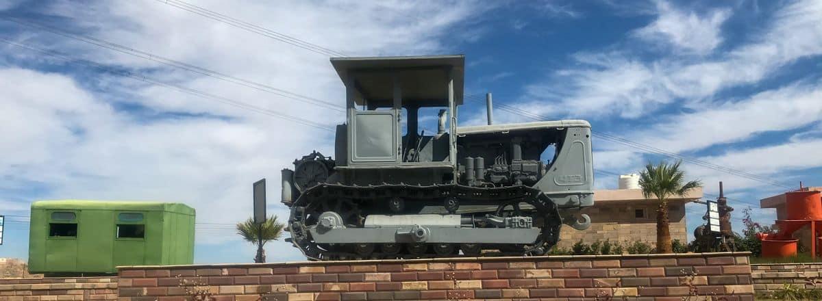 Jedna z maszyn, którą zachowano na pamiątkę, by pokazać, jak i czym budowana była Wysoka Tama Asuańska
