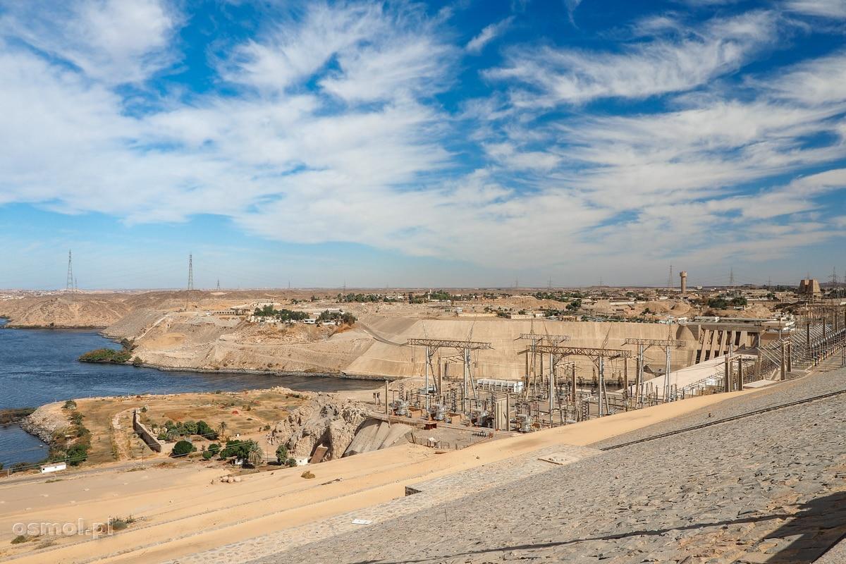 Wysoka Tama Asuańska w Egipcie