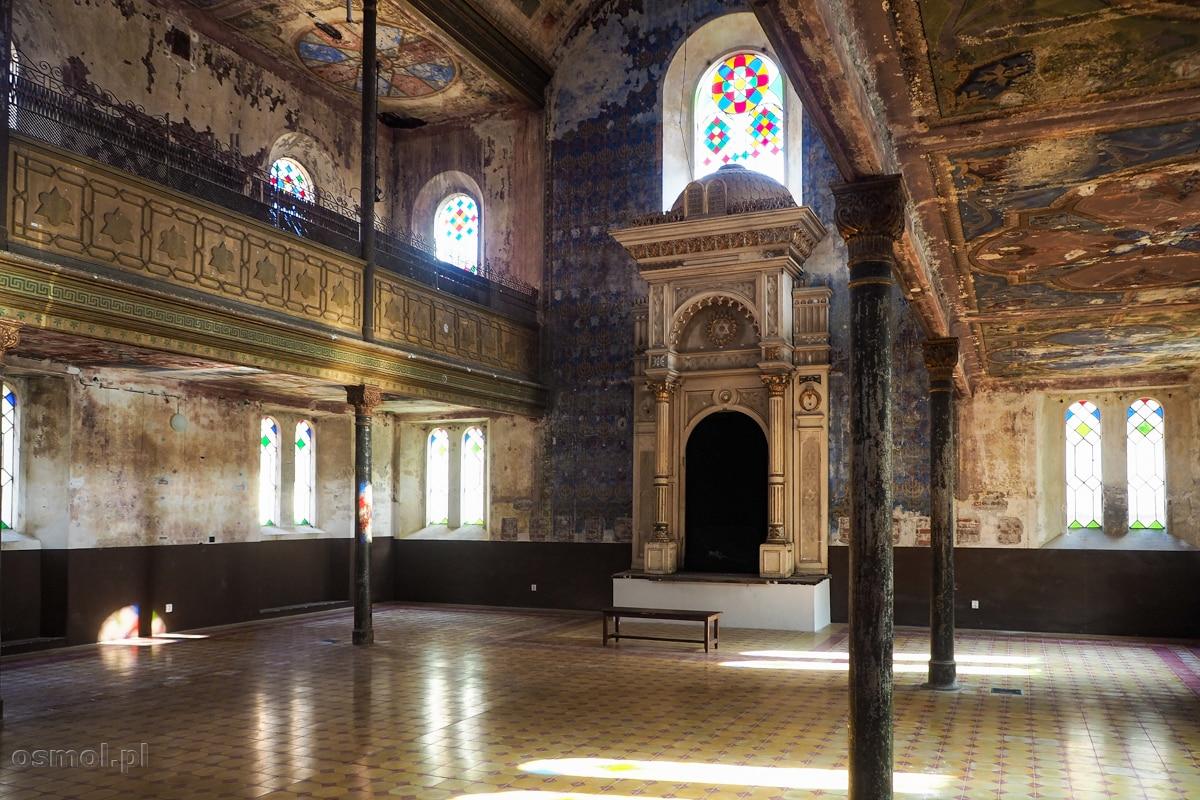 Wnętrze starej synagogi w Koszycach