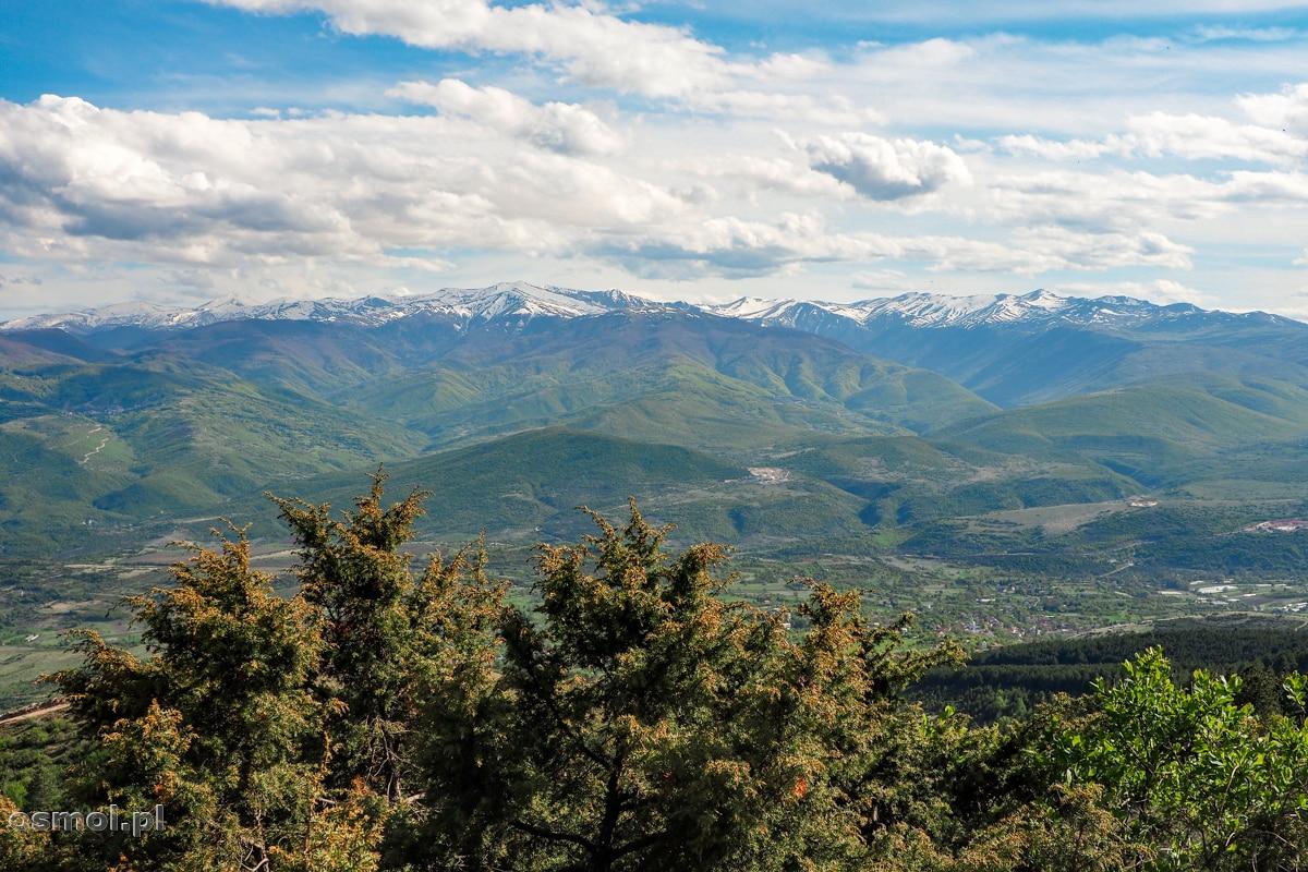Panorama widziana z góry Vodno nad Skopje