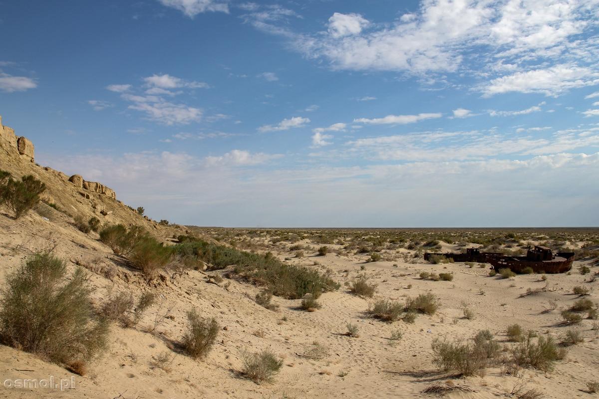Brzeg dawnego Jeziora Aralskiego