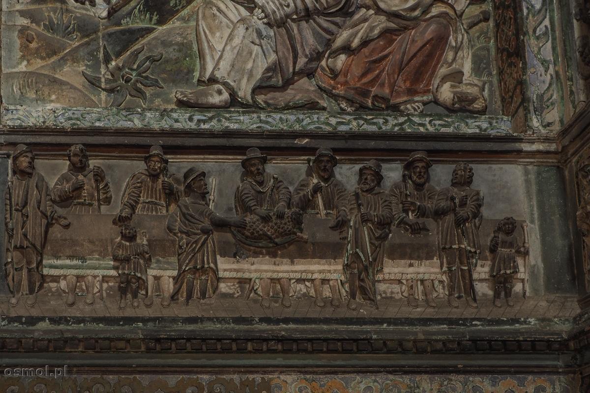 Płaskorzeźba z Żydami w kaplicy Boimów