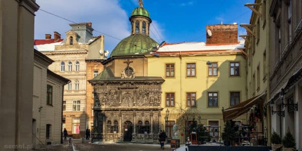 Kaplica Boimów we Lwowie. Zimą bez tłumów turystów prezentuje się w całej okazałości
