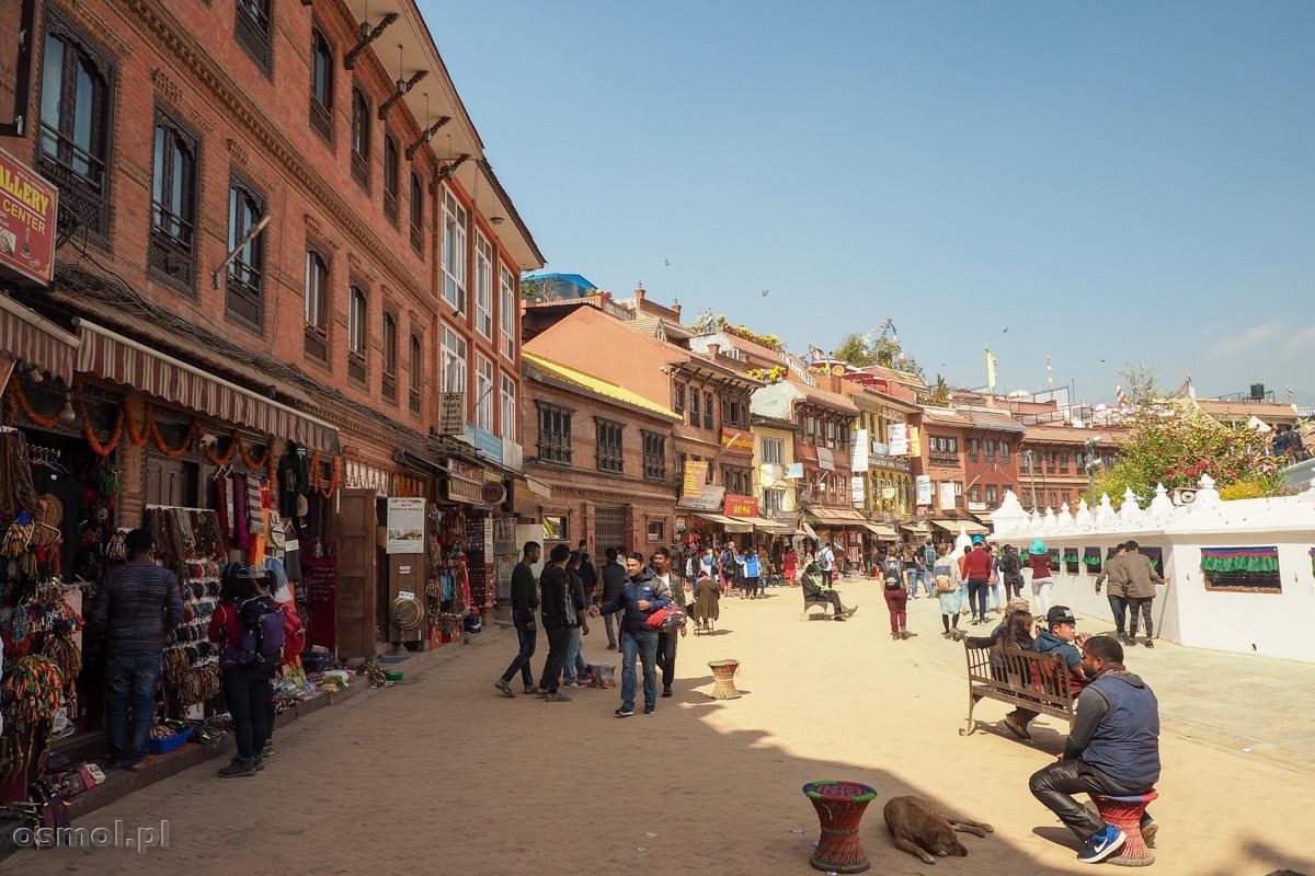 Plac dookoła stupy Bodnath