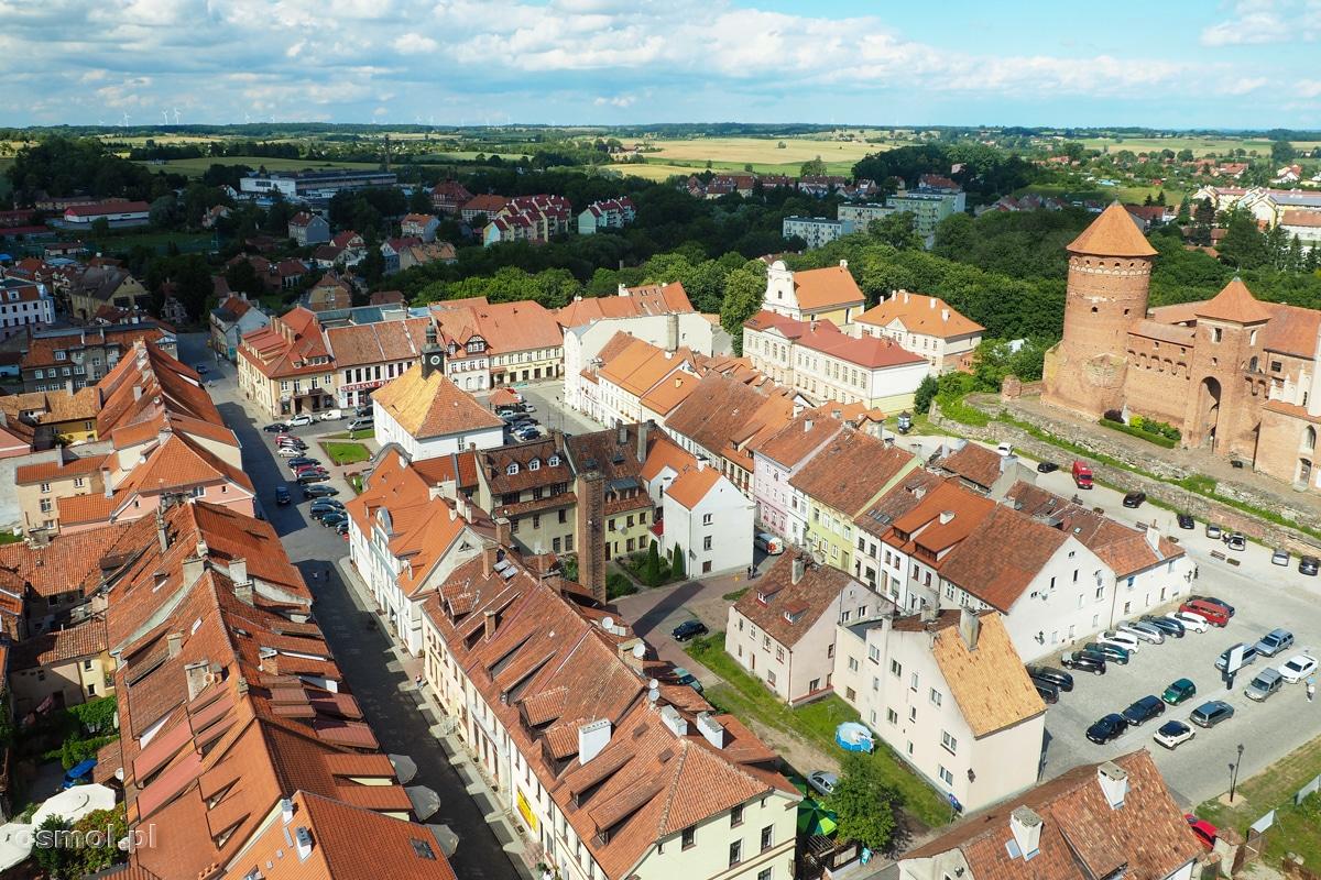 Reszel. Panorama miasta widziana z wieży kościoła