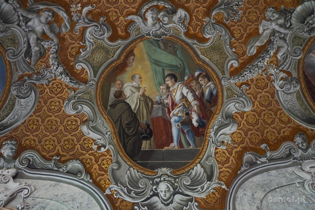Zdobienia letniego refektarza klasztoru cystersów w Lubiążu