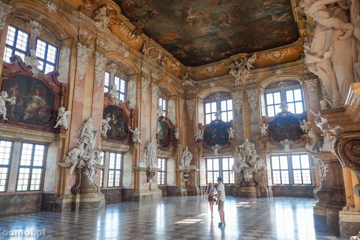 Sala Książęca. Najbardziej reprezentacyjna i najpiękniejsza sala w klasztorze w Lubiążu