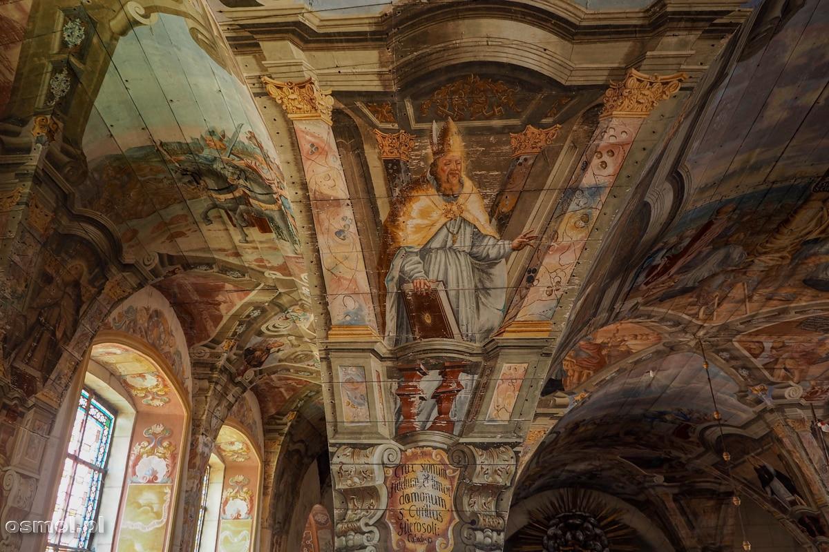 Polichromie z kościoła w Chwalęcinie