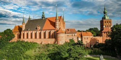 Frombork. Wzgórze Katedralne widziane z wieży wodnej