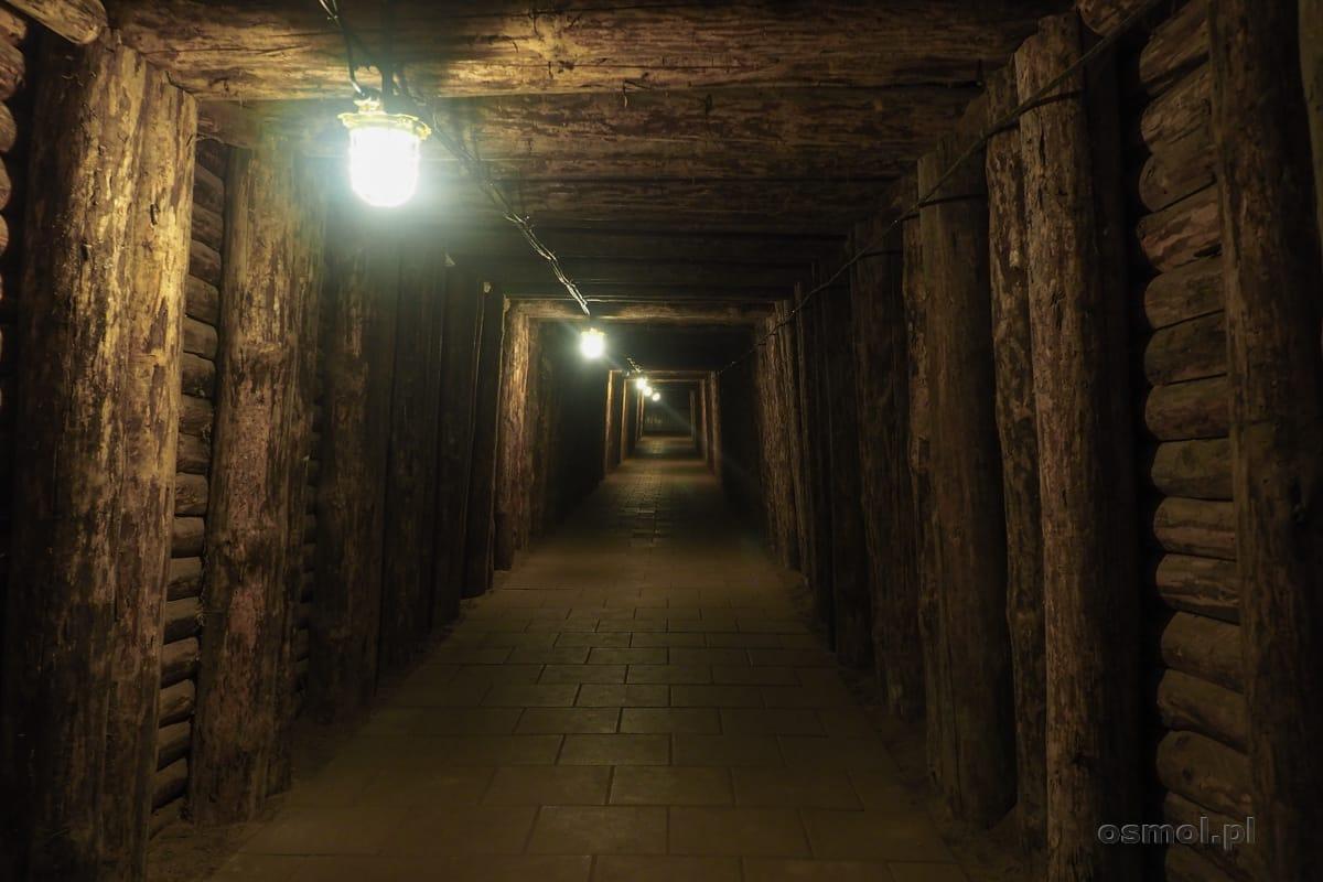 Turystyczny, podziemny chodnik w kopalni soli w Bochni