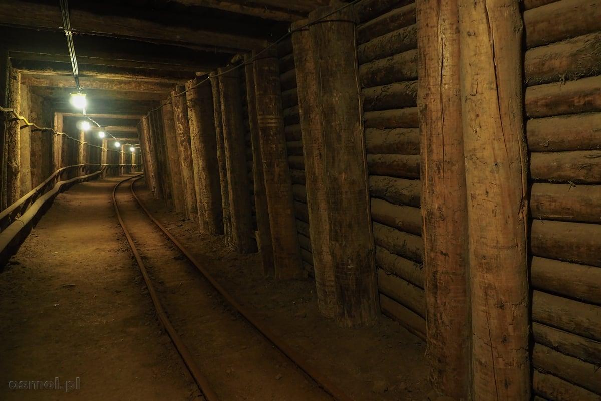 Korytarz w kopalni soli w Bochni