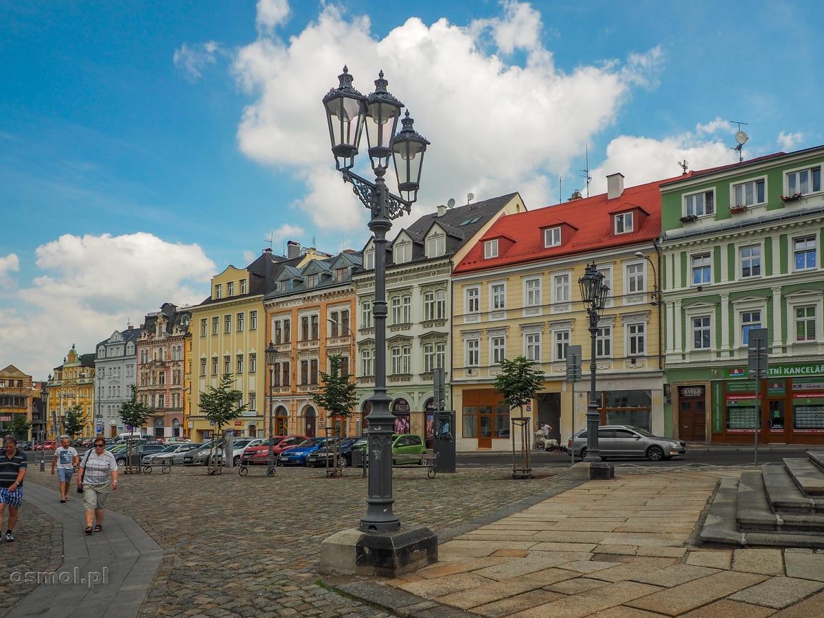 Kolorowe kamieniczki w Libercu