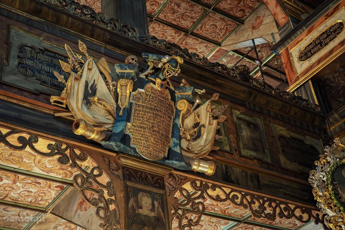 Zdobienia Kościoła Pokoju w Świdnicy zajmują niemal każdą wolną powierzchnię