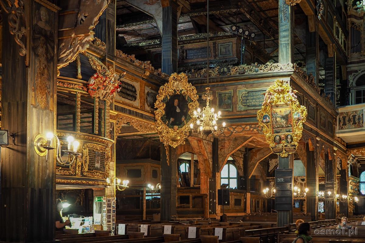 Wnętrze i zdobienia Kościoła Pokoju w Świdnicy