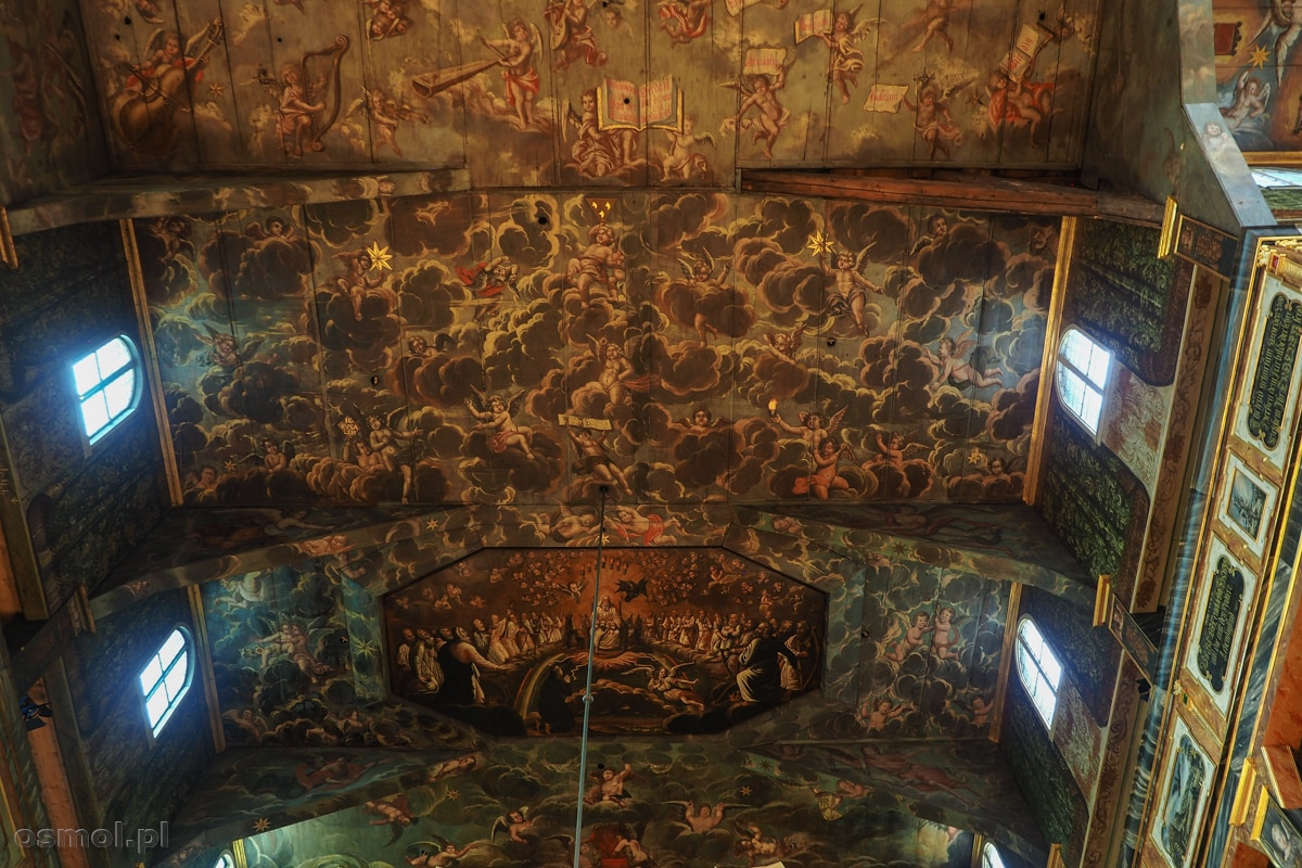 Ozdobny sufit Kościoła Pokoju w Świdnicy