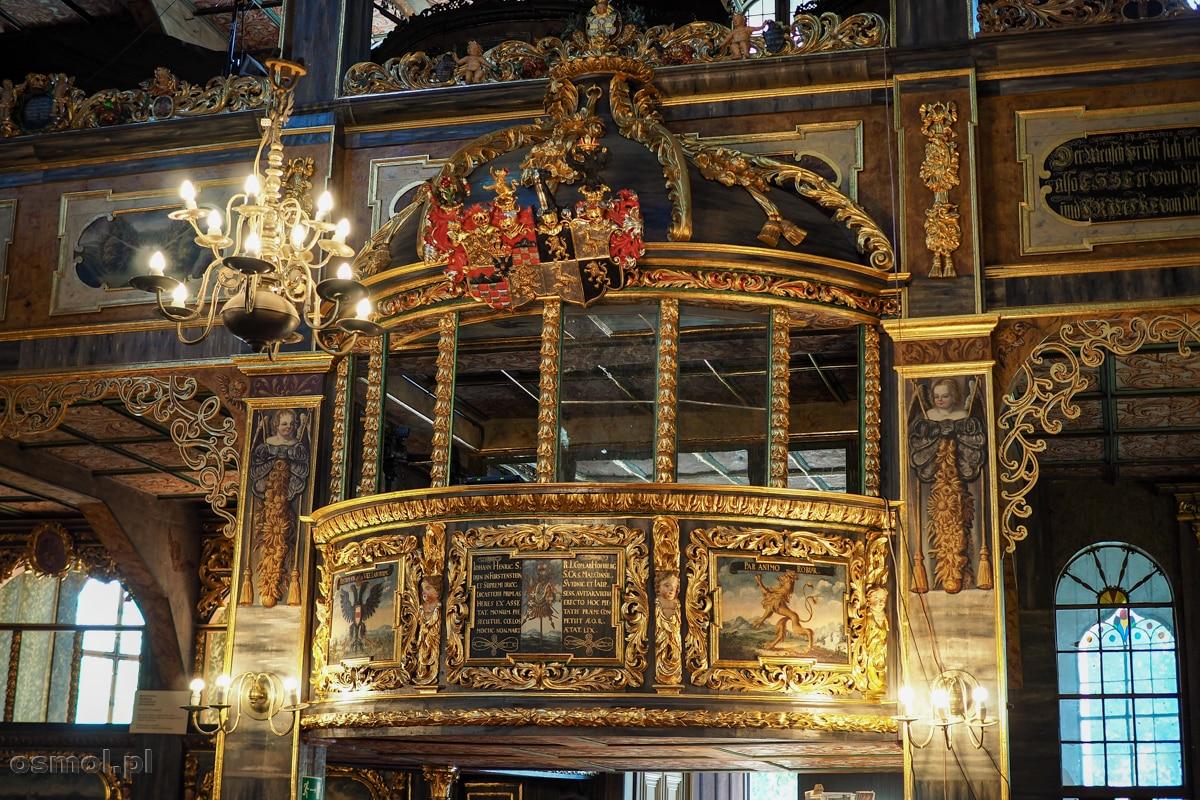 Loża von Hochbergów. Najbardziej ozdobna loża w całej świątyni