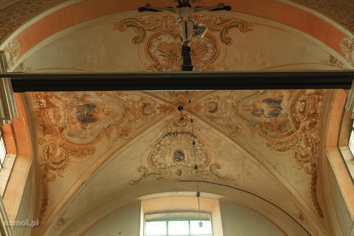 Freski na suficie sanktuarium w Krośnie