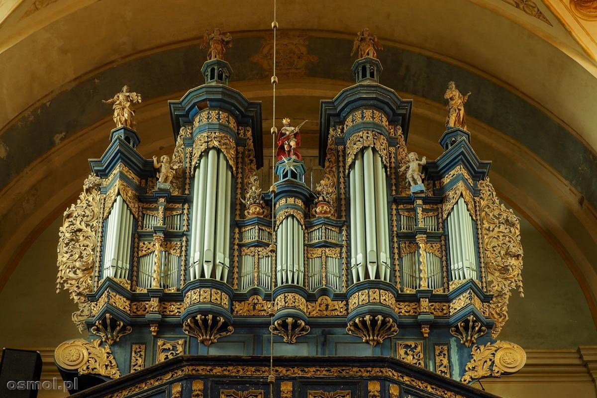 Ozdobne organy z kościoła w Krośnie na Warmii
