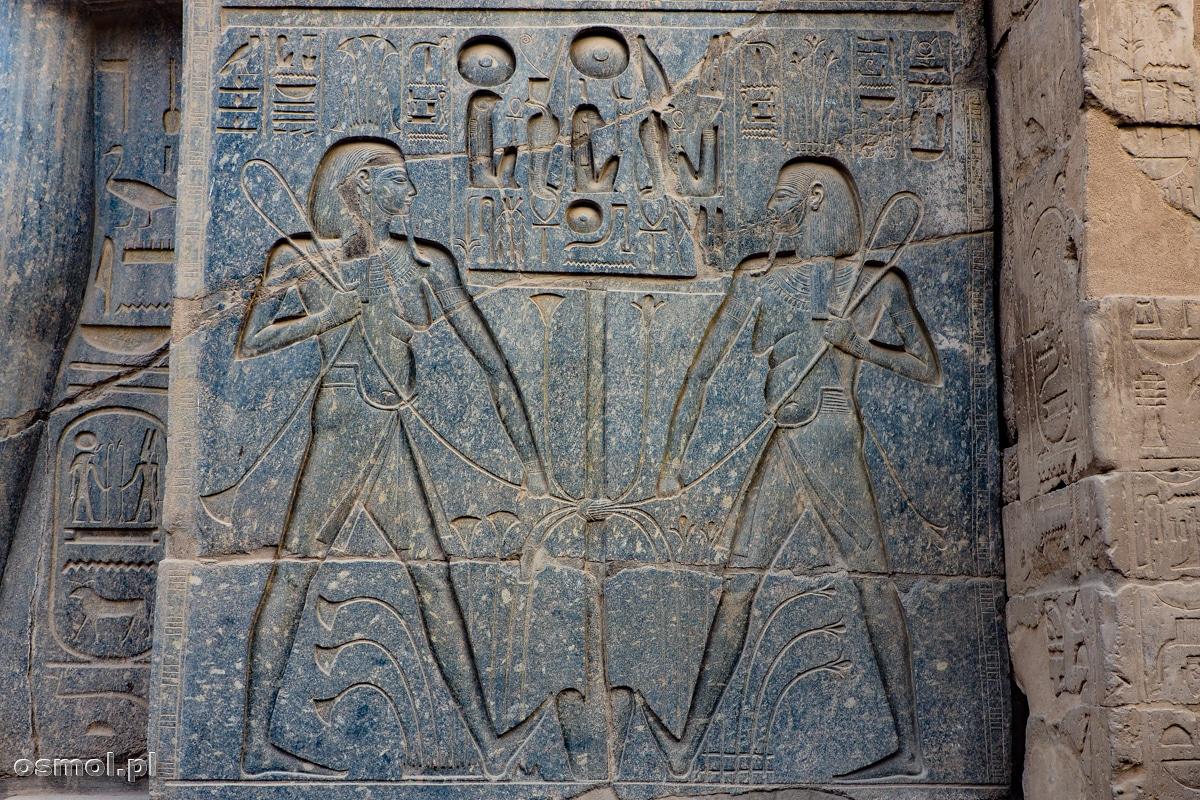 Hieroglify w Świątyni Luksorskiej