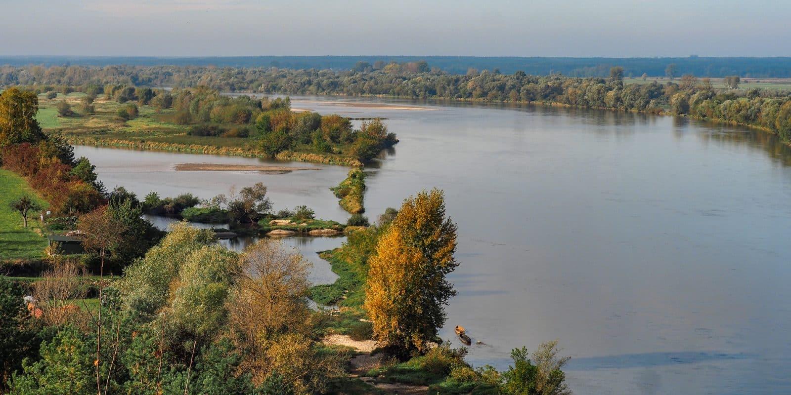 Widok na Wisłę w Kazimierzu Dolnym