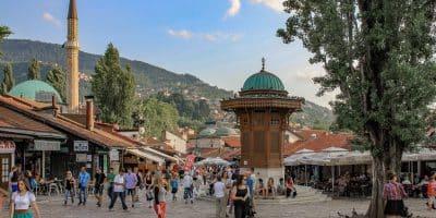 Sebilj czyli studnia w Bascarsiji. Tu spotykają się mieszkańcy Sarajewa, tu spotykają się turyści. To chyba najbardziej charakterystyczne miejsce w Sarajewie.