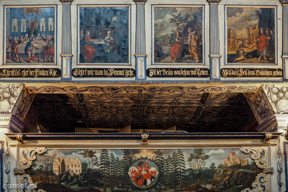 Zdobienia empor Kościoła Pokoju w Jaworze