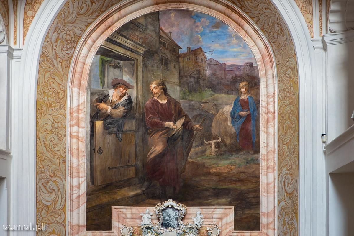 Fresk ze św. Józefem i autoportret malarza w jednym.