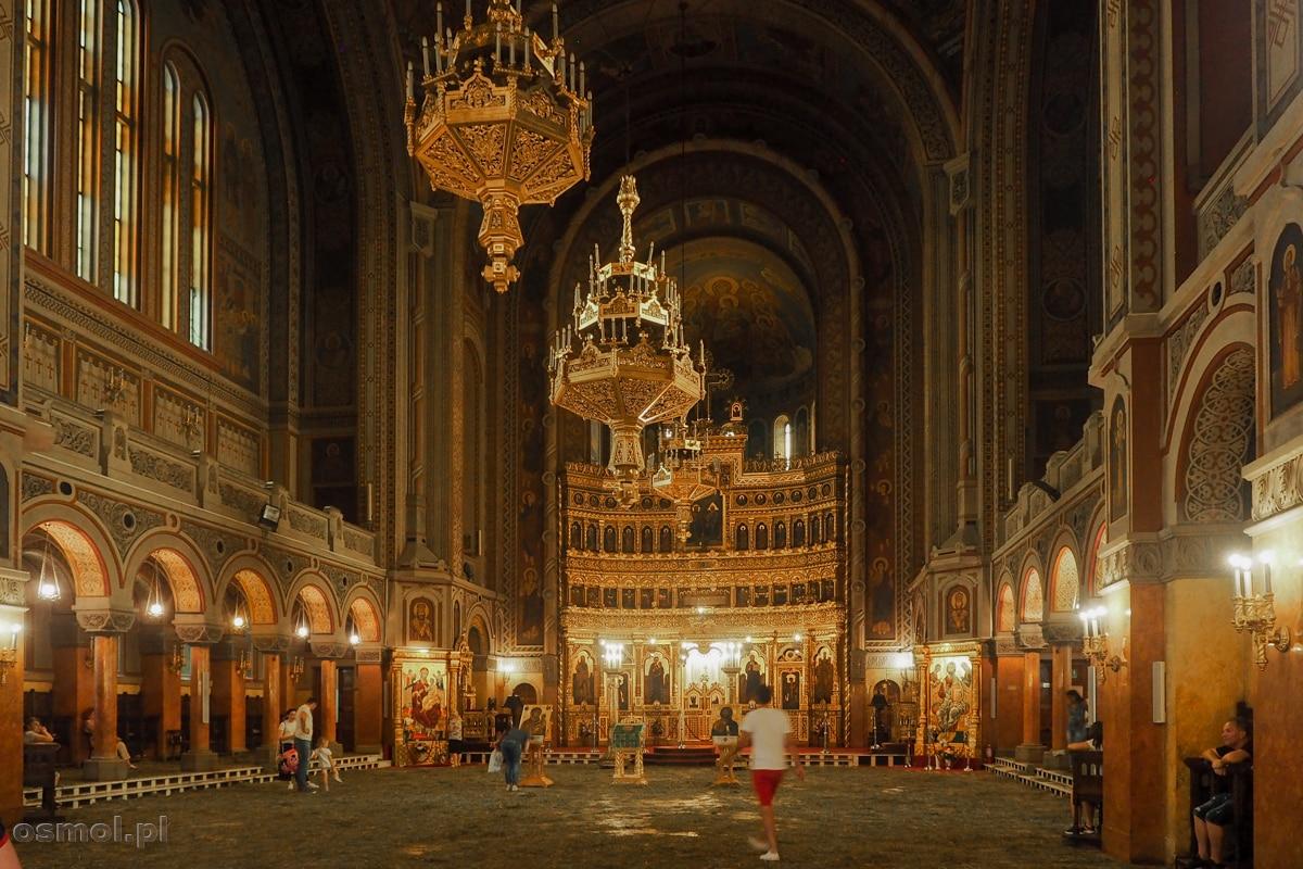 Wnętrze katedry prawosławnej w Timisoarze