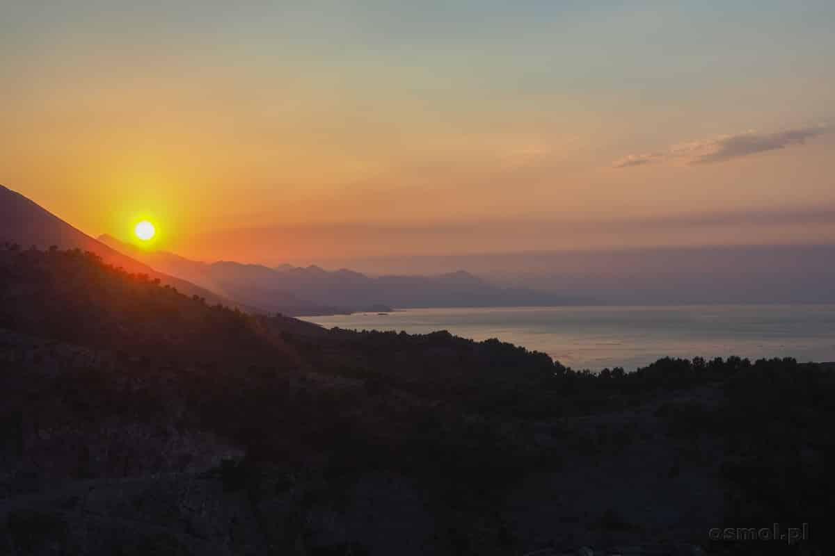 Jezioro Szkoderskie widziane z Zamku Rozafy