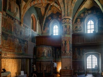 Kaplica Trójcy Świętej w Lublinie. Widok z Prezbiterium na nawę