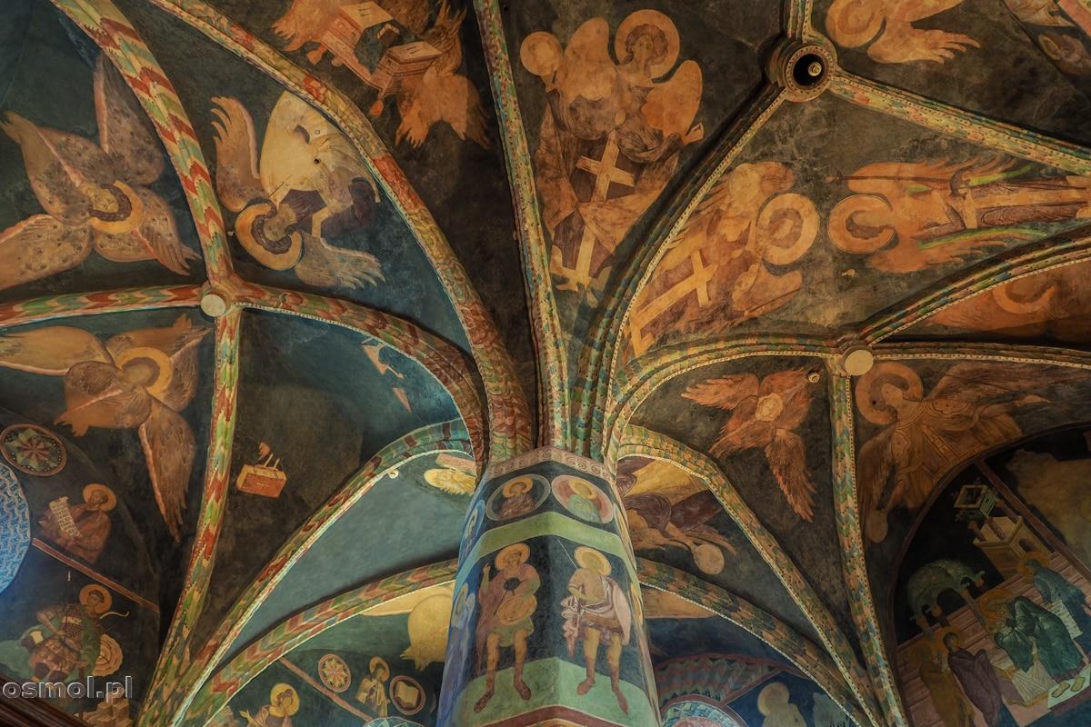 Polichromie na suficie kaplicy na zamku w Lublinie