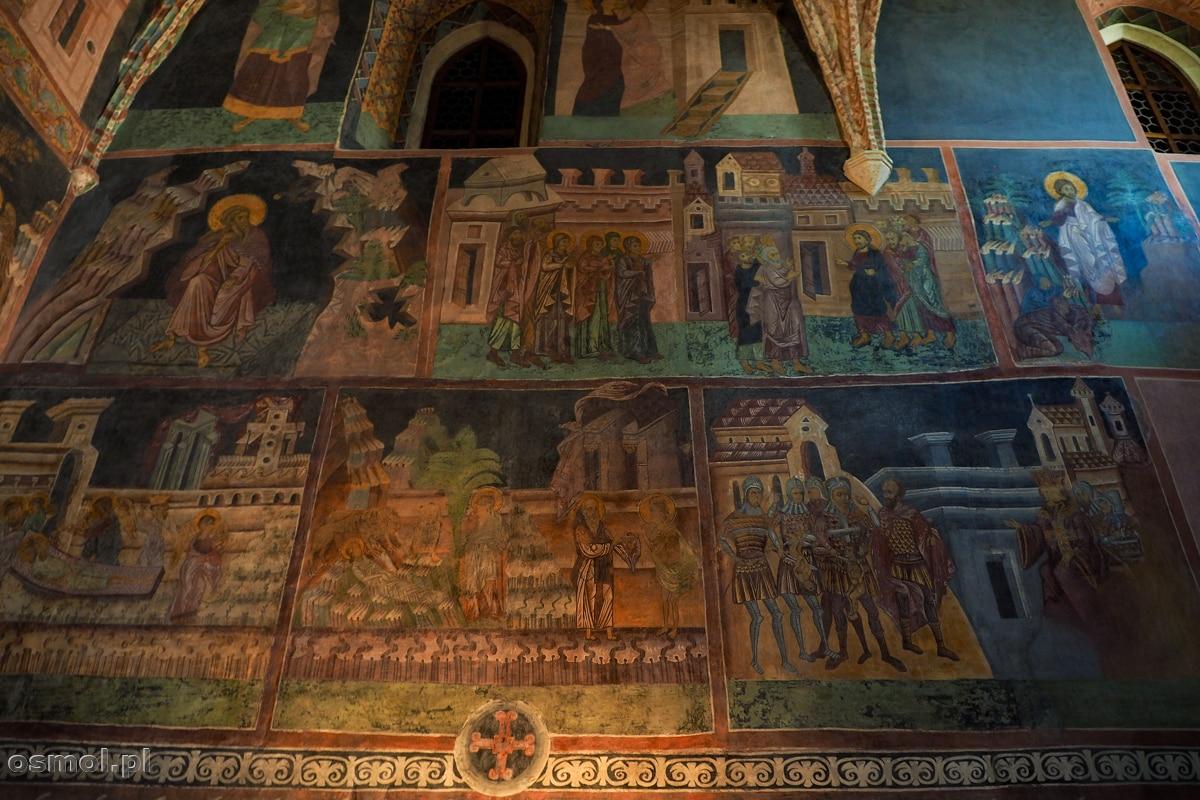 Freski w Kaplicy Trójcy świętej. Na fresku w prawym dolnym rogu scena rzezi niewiniątek