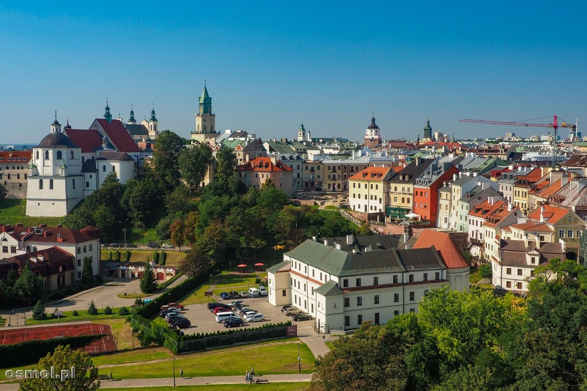 Widok na Stare Miasto w Lublinie z wieży zamkowej