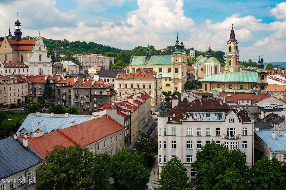 Panorama Przemyśla z wieży Muzeum dzwonek i fajek
