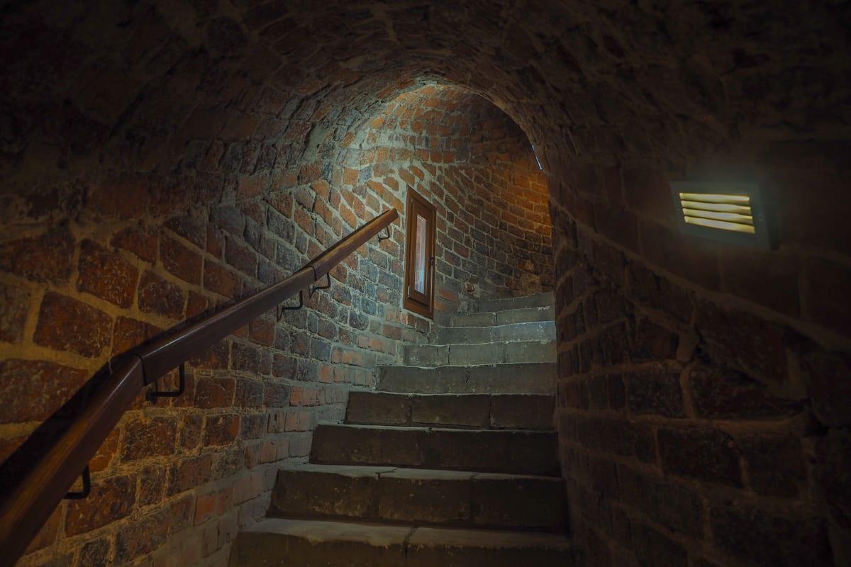 Schody w baszcie ostatniej obrony lubelskiego zamku