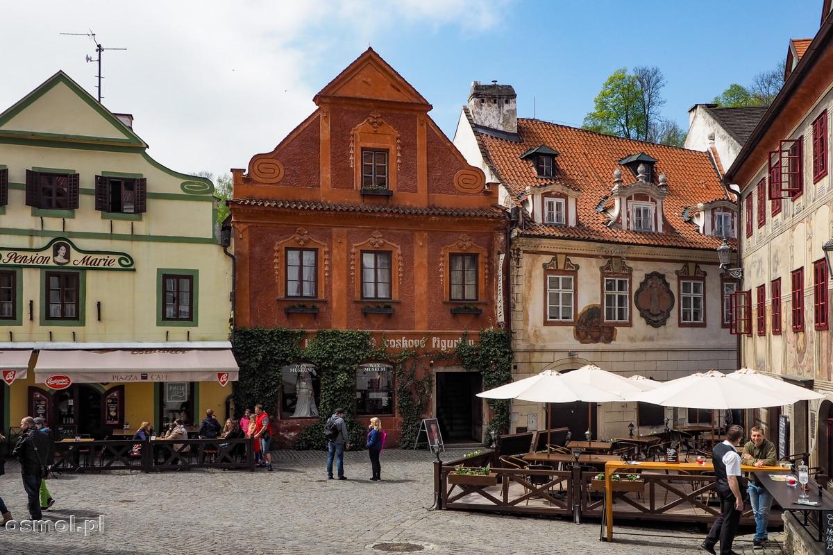 Kolorowe kamienice w Czeskim Krumlovie