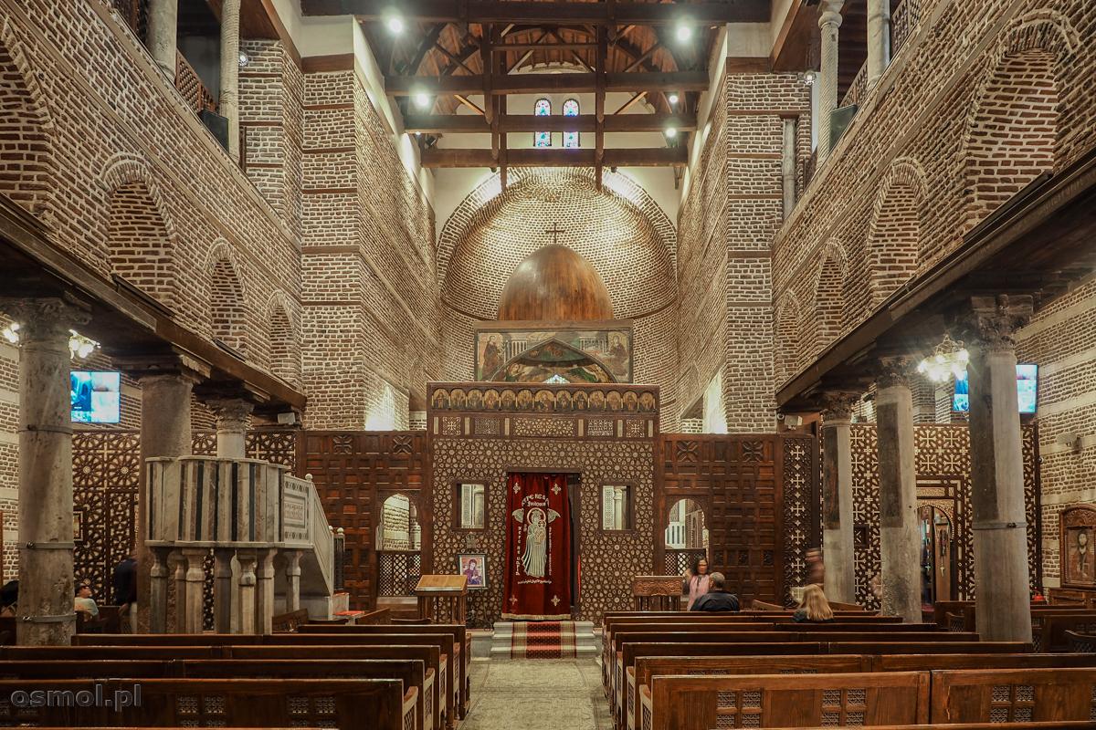 Wnętrze kościoła koptyjskiego w Kairze