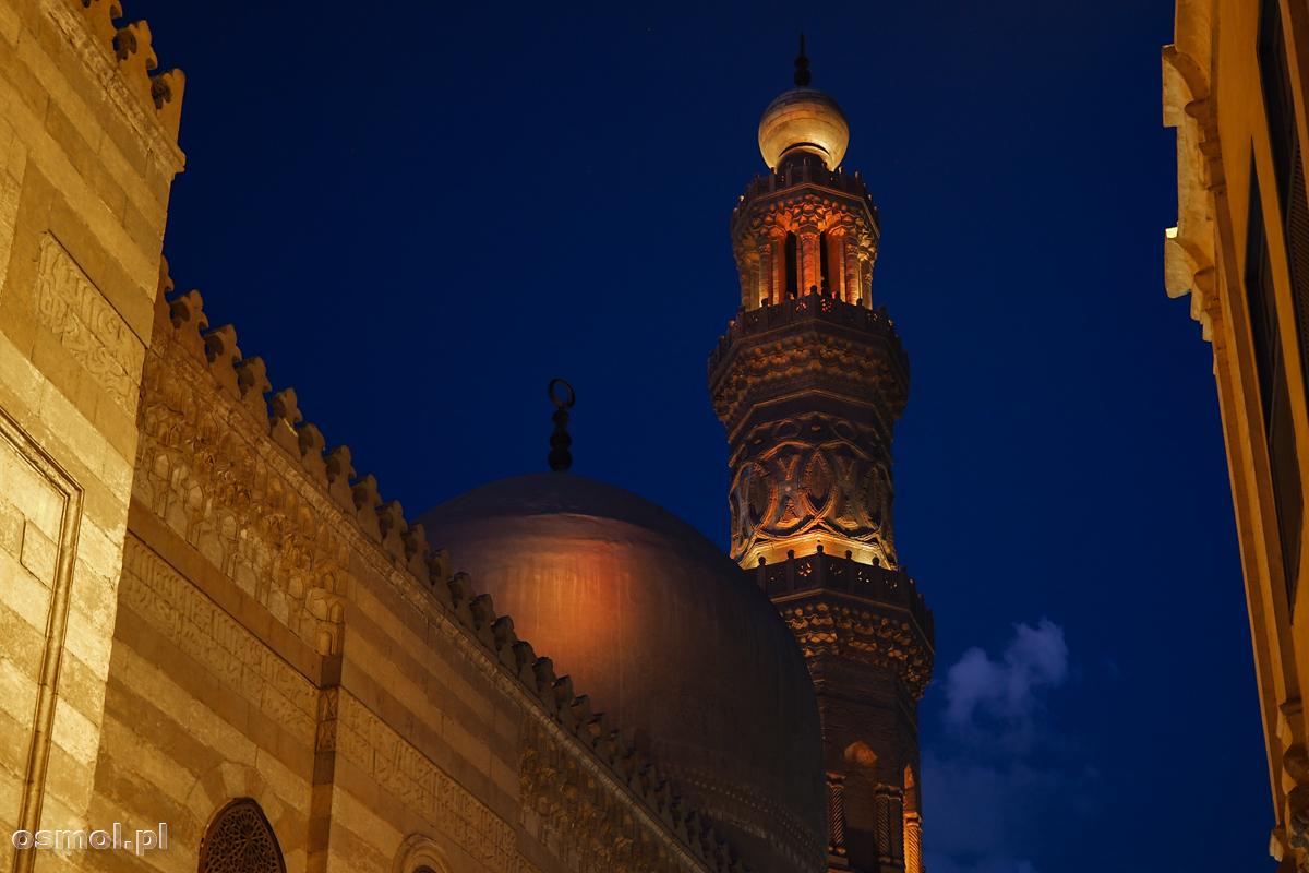 Kopuła i minaret medresy sułtana Al-Nasira Muhammada Ibn Qalawuna