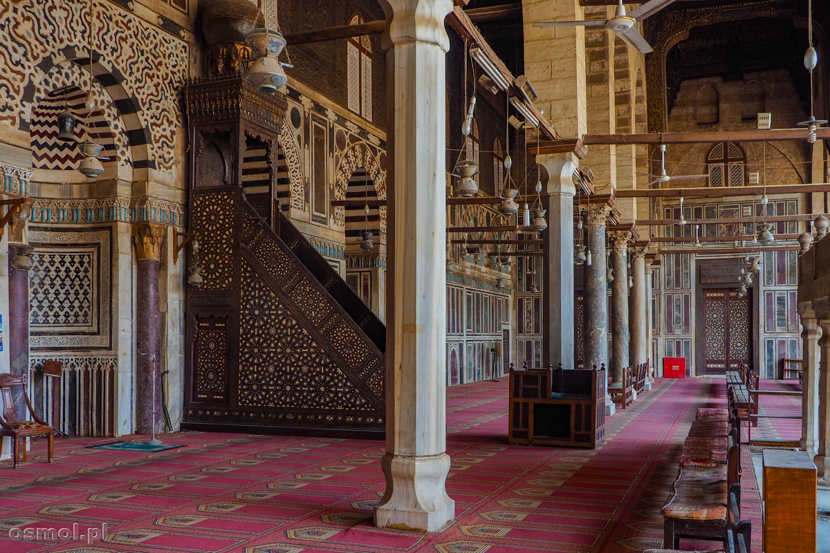 Wnętrze meczetu w Kairze