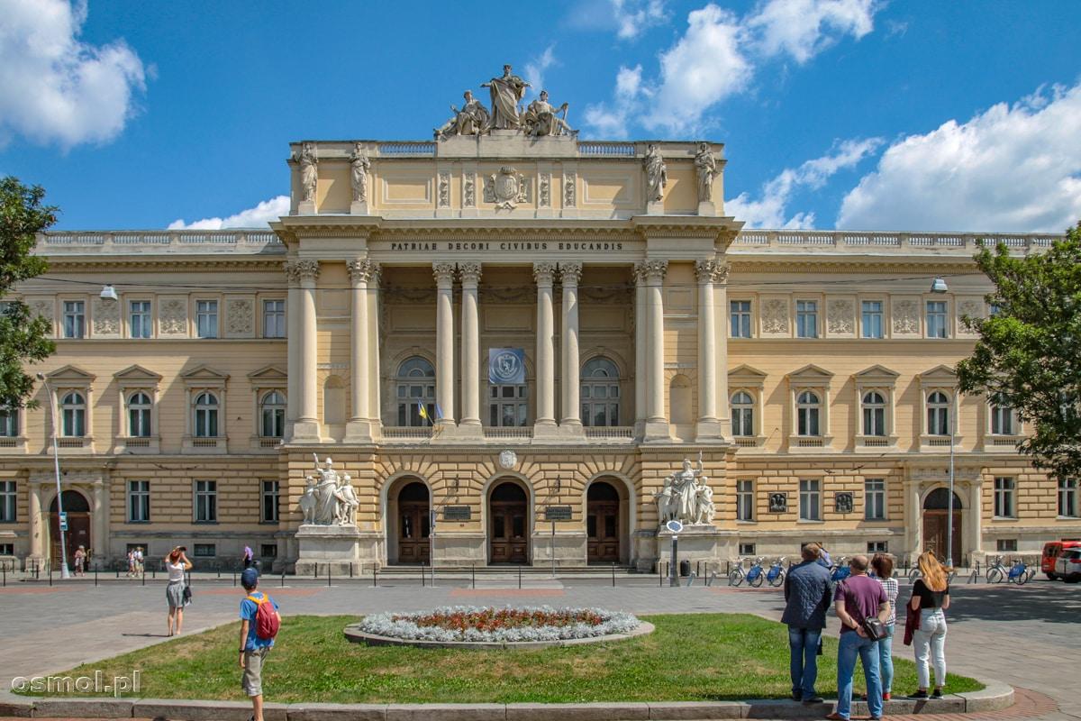 Uniwersytet Iwana Franki we Lwowie. Uniwersytet mieści się w dawnym budynku Sejmu Galicyjskiego.