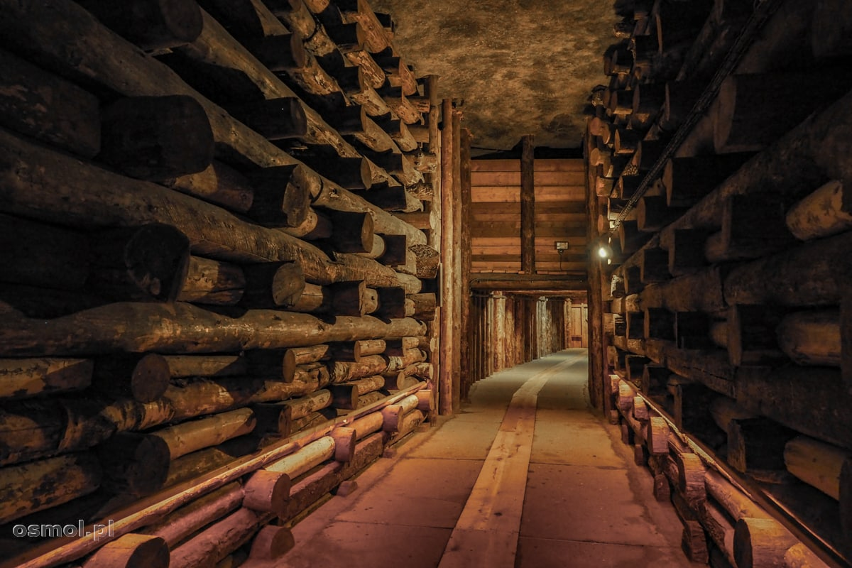 Podziemny korytarz w Kopalni Soli w Wieliczce