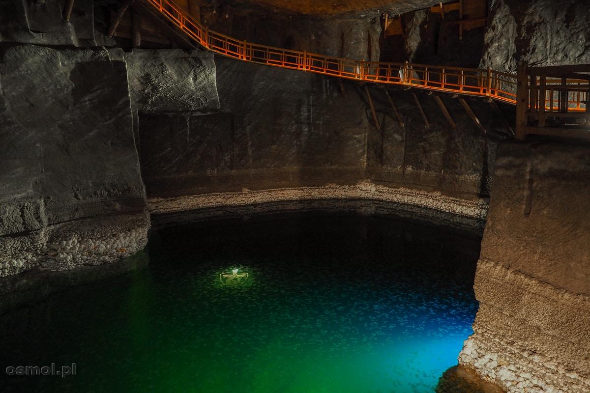 Podziemne jezioro Barącza w Wieliczce