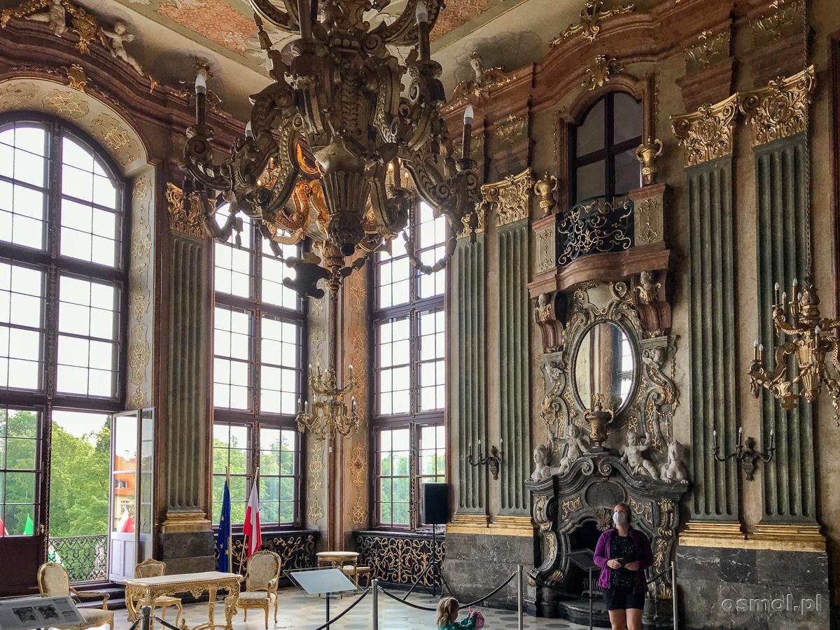 Sala Maksymiliana. Reprezentacyjna sala zamku Książ
