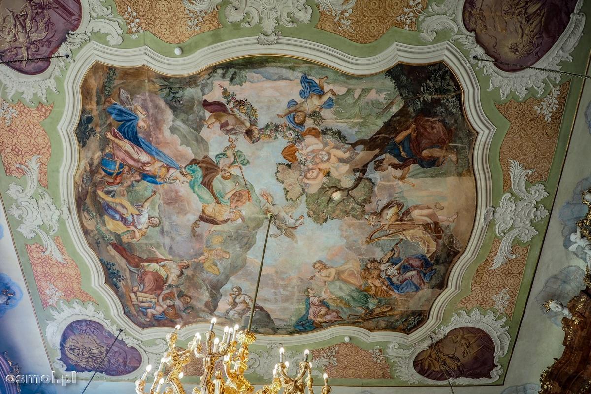 Ozdobny plafon w Sali Maksymiliana zamku Książ