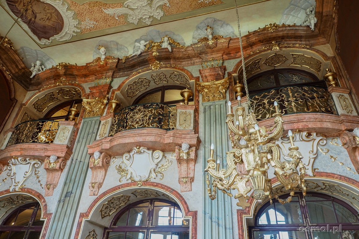Balkon dla orkiestry, która grała podczas uroczystości odbywających się w Sali Maksymiliana