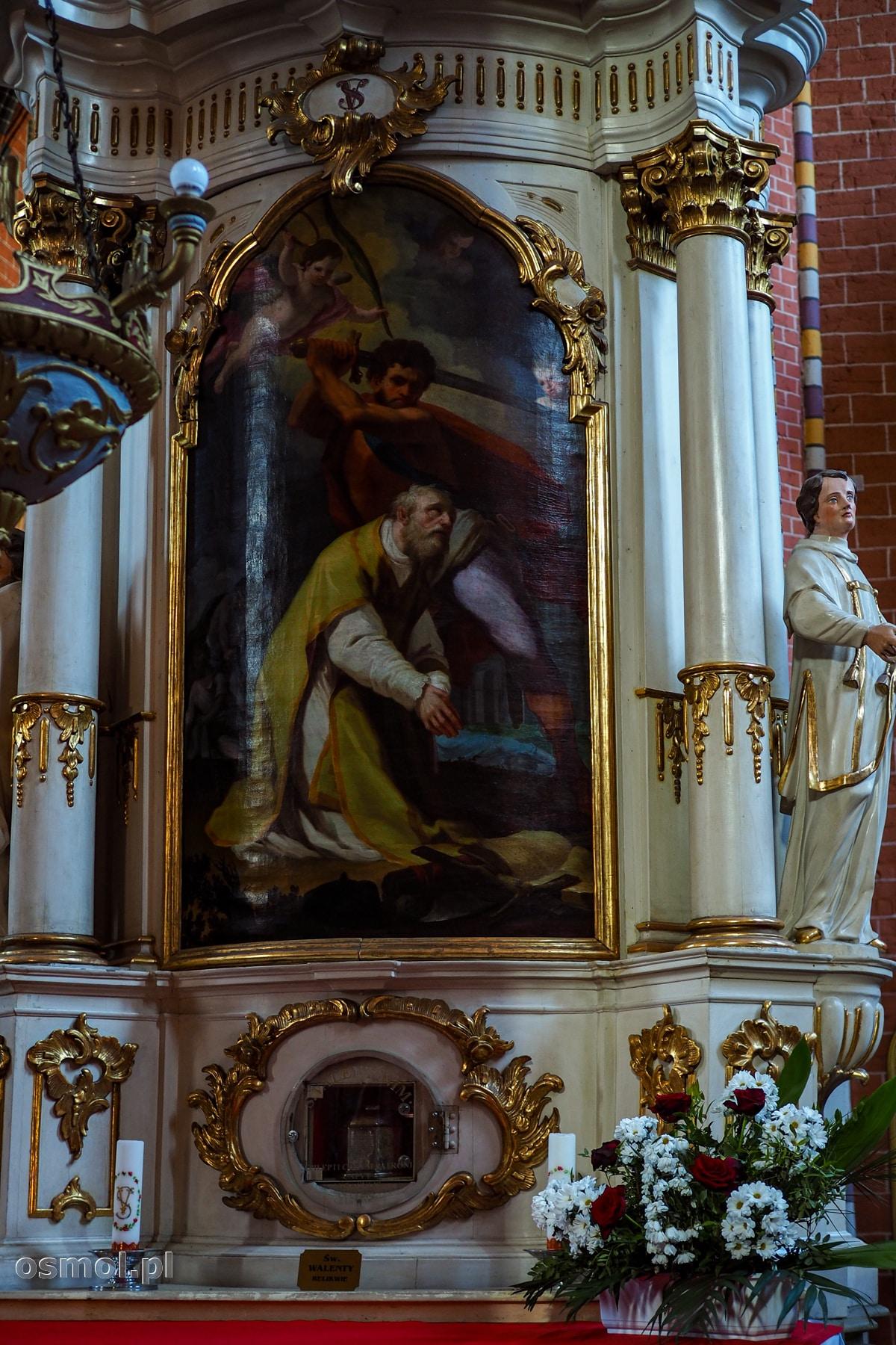 Relikwie św. Walentego z kościoła farnego w Chełmnie