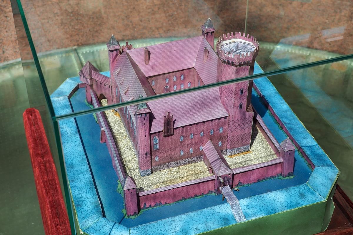 Makieta zamku krzyżackiego w Gniewie