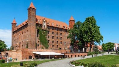 Widok na zamek w Gniewie