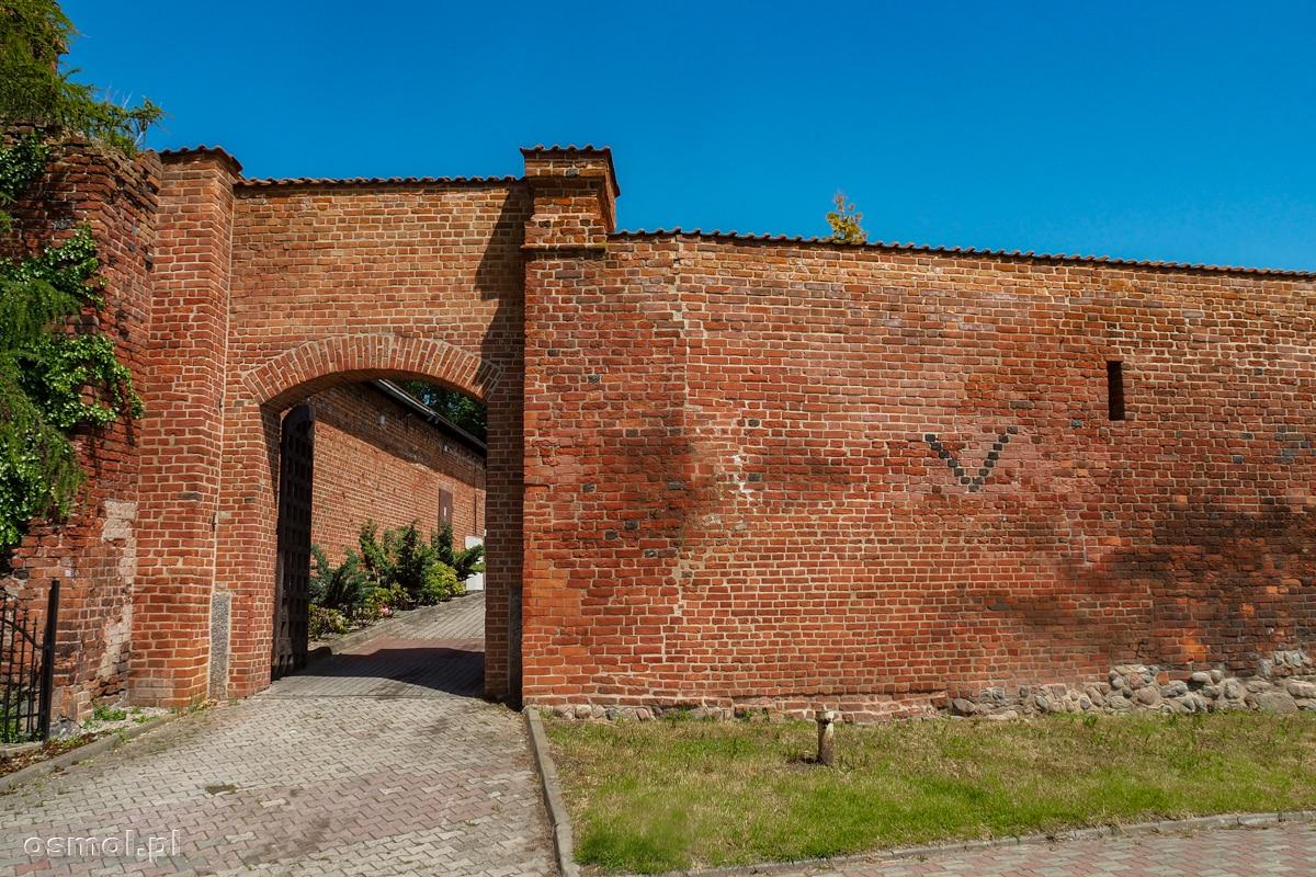 Fragment dawnych murów obronnych Gniewu