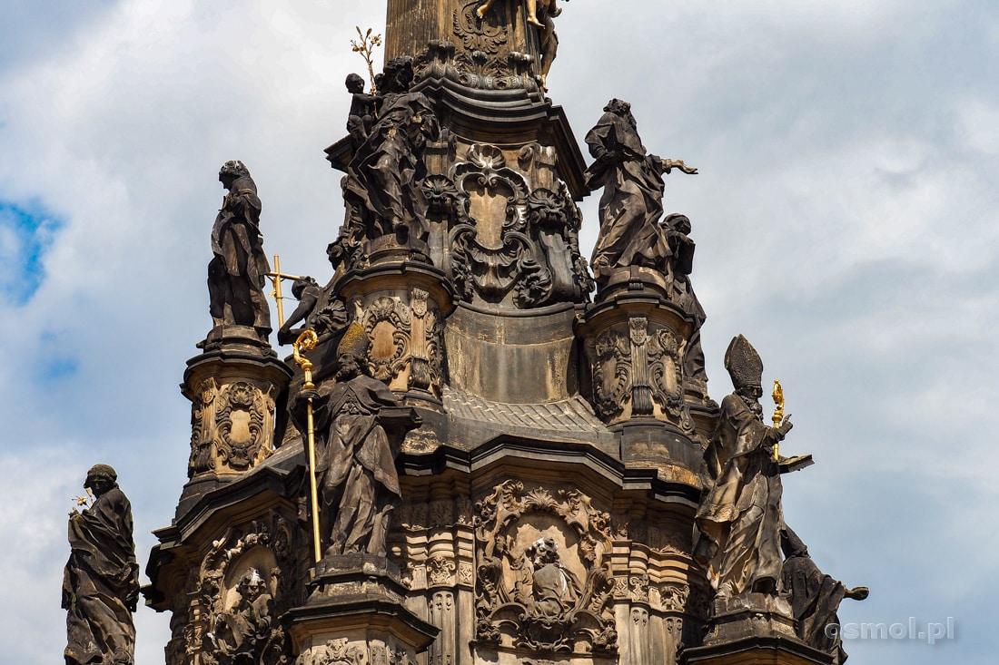 Górny poziom Kolumny Trójcy Świętej w Ołomuńcu